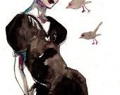 Original Drawing / Birdies