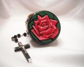 Mystical Rose Rosary Box - Catholic keepsake box - made to order