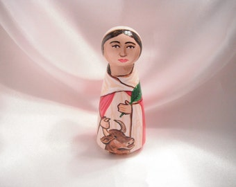 Saint Perpetua - Catholic Saint Wooden Peg Doll Toy - made to order