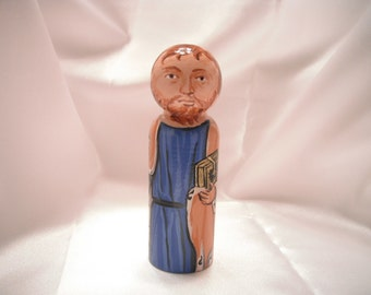 Saint James the Greater - Catholic Saint Wooden Peg Doll Toy - made to order