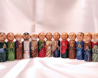 The Last Supper, Catechesis of the Good Shepherd Play set - made to order - Catholic Saint Wooden Peg Doll Toy