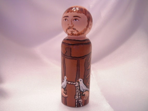Saint Francis of Assisi - Catholic Saint Doll - made to order