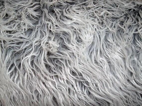 grey fur rug blanket great photography prop. Black Bedroom Furniture Sets. Home Design Ideas