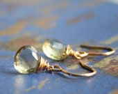 Soft Yellow Quartz Drop Earrings