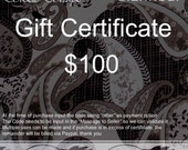 Gift Certificate - USD 100 with shipping Included