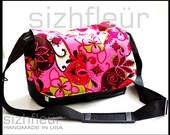 Camera bag / Purse  - Pink paisley