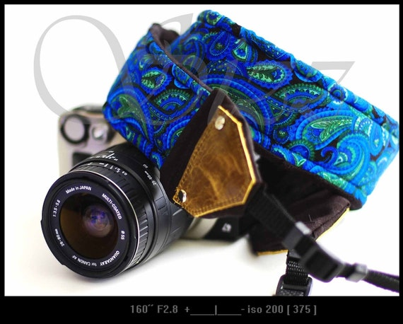 Genuine Leather Unisex Fashion Camera Strap - Ocean Romance