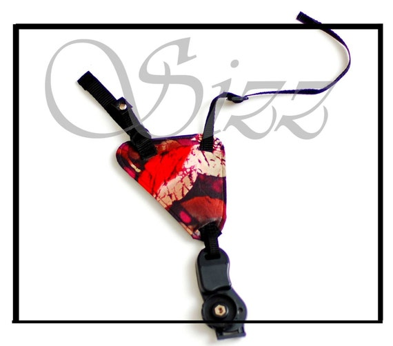 Fashion Camera Grip for matching strap or camera bag - Autumn Equinox or any fabric from store
