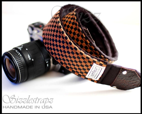 Camera Straps with genuine Leather ends - CheckMate & Egyptian Vibe