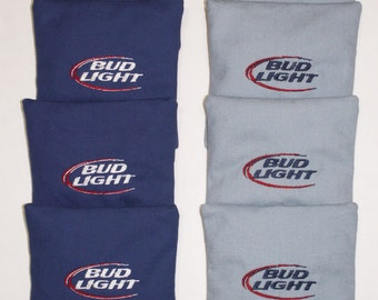 BUD LIGHT Embroidered Cornhole Corn Hole Baggo Bean Corn Bags ACA Quality