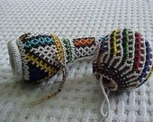 SALE   Vintage Beaded South African Gourds   SALE