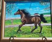 Oil Painting...Black Beauty...SALE