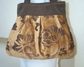 Tote...The Ms. Rosemary...Everyday Beautiful...Brown and Gold Small Tote