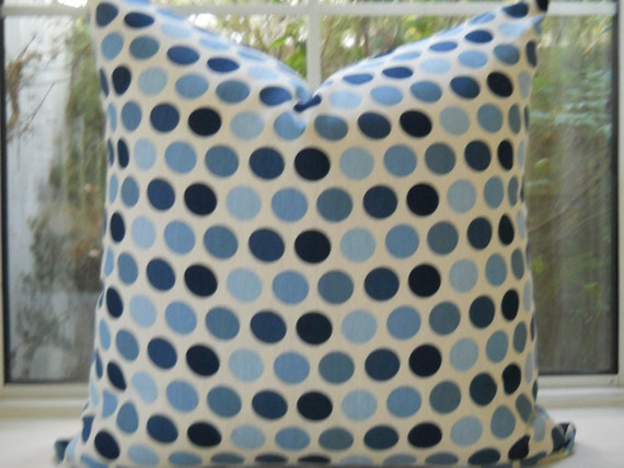 Pillow Cover...Beautiful Freckles Indigo... Designer Fabric...20x20 ...SALE