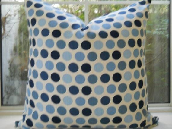 Pillow Cover...20x20  Beautiful Freckles Indigo...Designer Fabric...Throw Pillow...SALE