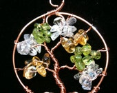 Mother's Tree of Life Pendant with Sterling Silver