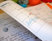 "Simple Planner, 8.5"" x 11"" (printable B&W PDF): Jan2013 - Dec2013"