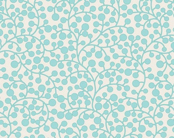 MOD VINES in Aqua (MO-4809) - Modernology by Patricia Bravo - Art Gallery Fabric - By the Yard