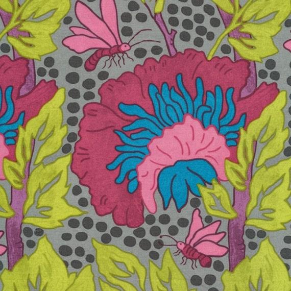 Last Piece - Fairytale Garden - Medusa Tree in Vibrant  MW02 - Butterfly Fabric -  Melissa White Westminster Fabrics - 3/4 Yard Fabric