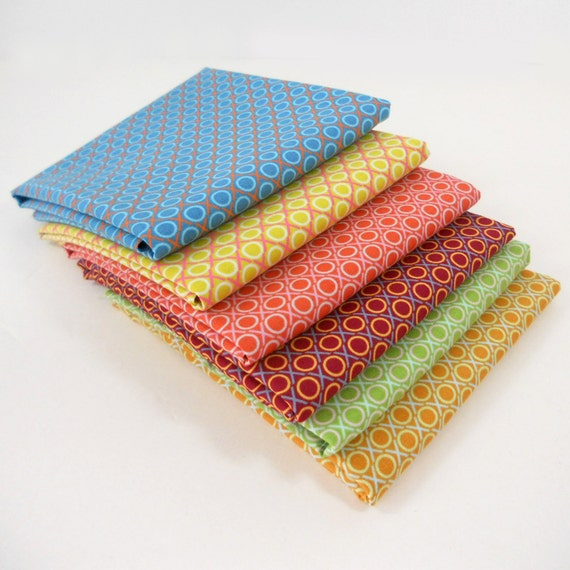 Fabric Anna Maria Horner - LouLouThi - HUGS and KISSES Bundle - Fat Quarter Bundle - Blenders - Modern Fabric