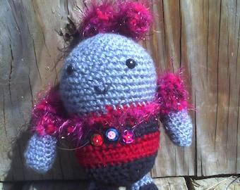 Robot Amigurumi Doll, Crocheted Robot, Waldorf Toy, Amigurumi Robot, Handmade Robot, Girl Robot, Anime Robot, Kawaii Robot