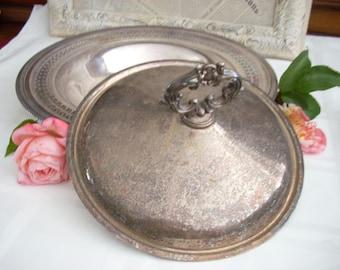 Vintage Silverplated Round Casserole Serving Dish