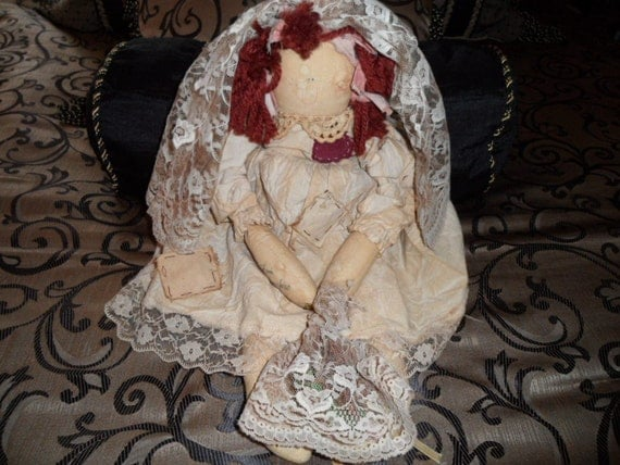 Vintage Virtuous Virgie Attic Babies Doll By Omasfarmhouse