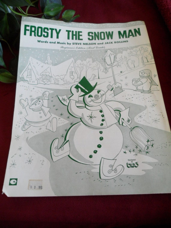 This is a picture of Juicy Vintage Christmas Sheet Music Printable,frosty the Snowman