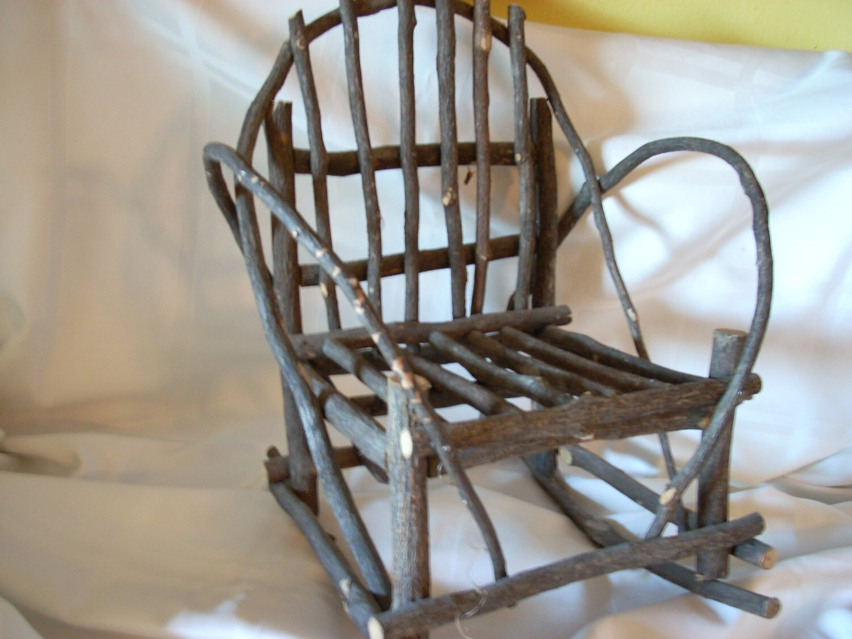 Vintage Bent Twig Doll Rocking Chair