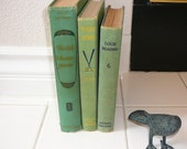 GREEN Decor Book Collection Home Decor Gift Los Angeles Library School Books