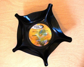 Home Decor Vinyl Record BOWL, Gift Basket, Dionne Warwicke 1970s