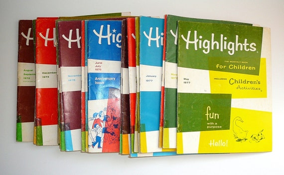 HIGHLIGHTS for Children 23 Magazines 1970s