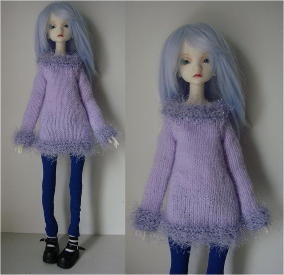 Knitted Long-Sleeved Tunic Sweater for Doll-Chateau Kid