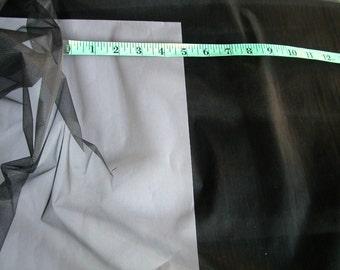 Black Sheer Knit   1 yd  (SM26)