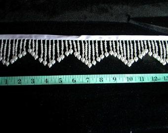 "2"" White Pearl Fringe   1 yard   (SM99)"