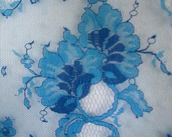 Royal Blue Border Lace  1 Yard  (SM186)
