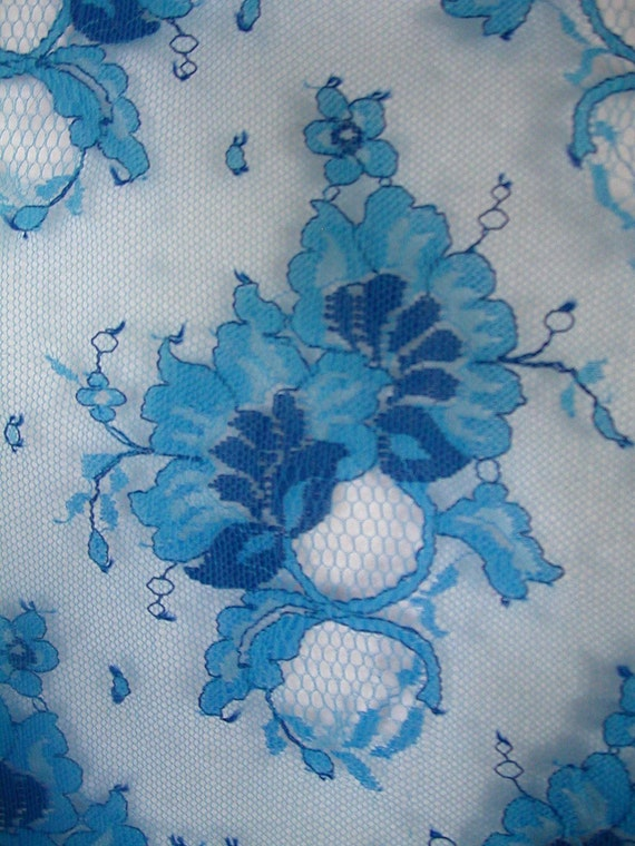 Items Similar To Royal Blue Border Lace 1 Yard Sm186 On Etsy