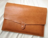 Personalized 15 Macbook Pro Case - Leather - Hand Stitched