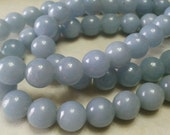 8mm Angelite Beads 1/2 strands.    25% off regular low price