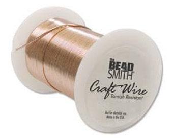 26 gauge Pure Copper Craft Wire  BeadSmith   Round  102 feet