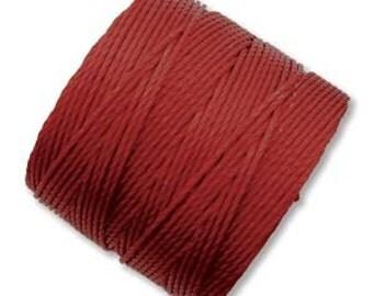 S-lon Dark Red 70 yards Superlon .5mm Bead Cord
