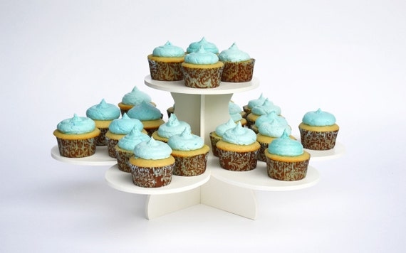 2 Tier Flower Cupcake Stand-Resuable