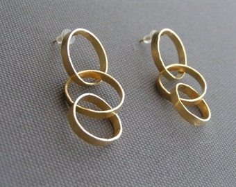 Gold plated/Fine silver Earrings