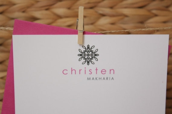 Personalized Stationery Thank You Notes - Sophisticated Spunk