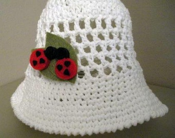 Custom Made Child's Size Sun Hat - Choose your color - Choose your style - Choose your embellishment - MADE TO ORDER
