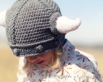 Viking Hat - MADE TO ORDER - Adult Size - Large - Choose Colors