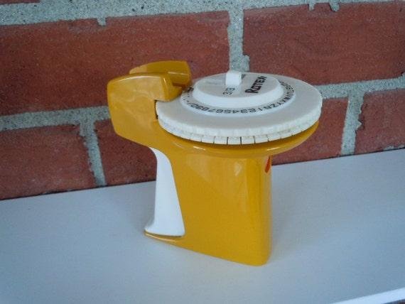 Vintage Mustard Rotex Label Maker