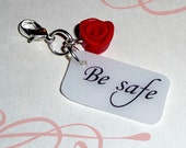 Bella's Be Safe clip on charm twilight inspired