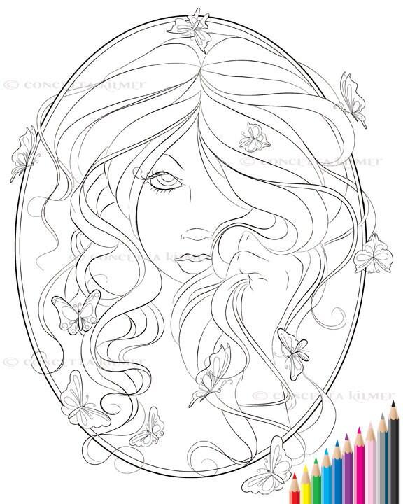 Serenity Fairy Portrait Fantasy Art by enchantedezignstudio: https://www.etsy.com/listing/102797248/serenity-fairy-portrait...