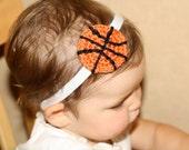 Crocheted Basketball Baby Girl Headband